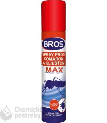 BROS SPRAY PROTI KOMÁROM A KLIEŠŤOM  MAX 90 ml