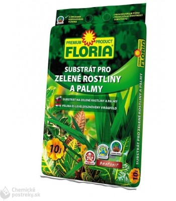 SUBSTRÁT NA PALMY A ZELENÉ RASTLINY FLORIA 10 L